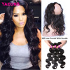 7A Malaysian Body Wave With 360 Frontal Yaeons 360 Lace Frontal Band Closure With Malaysian Virgin Hair Body Wave 3 Bundles