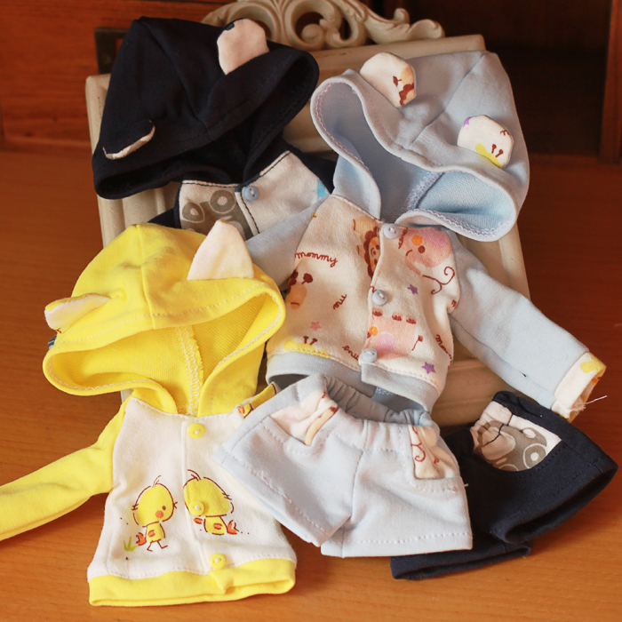 NEW Lovely Pattern Suit Blue/Yellow/Navy Blue 1/4 1/6 BJD MSD YOSD Doll Clothes