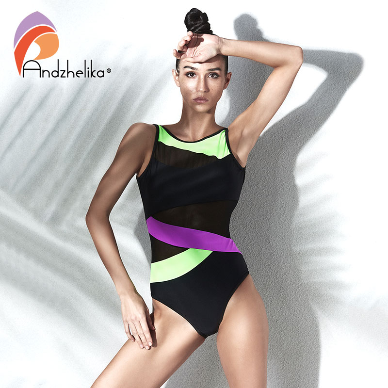 new children girls professional swim suit one piece kids sport swimwear costume rush guard bathing girl beachwear quick drying Andzhelika 2018 New High Quality Sexy One Piece Swimwear Black Mesh Patchwork Swim Suit Bodysuit Bathing Beachwear Swim Wear