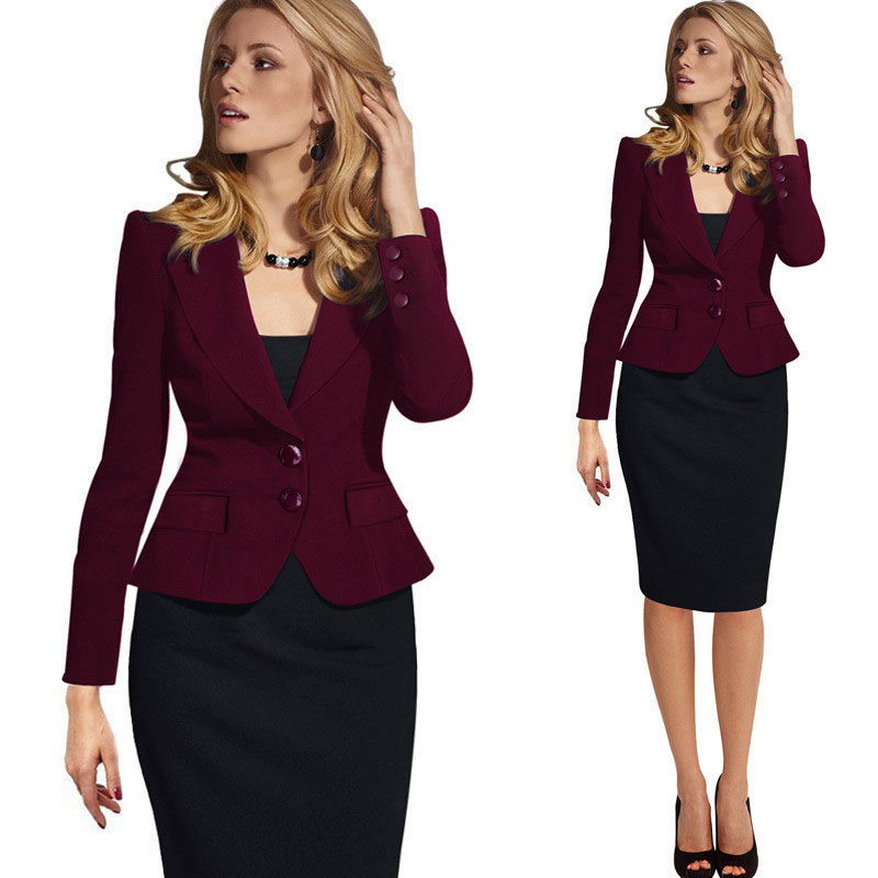 2019 Spring And Autumn Women's Slim Small Suit Office Business Single-breasted Women's Small Suit Tops
