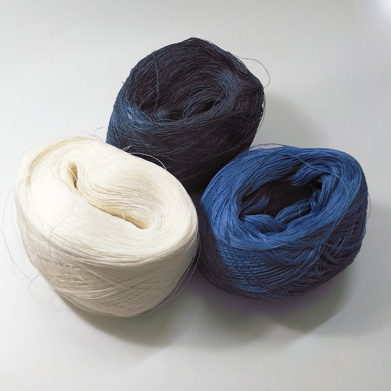 500gram Pure Linen Yarn 3 Ply   DIY Crochet And Knitting White Blue Natural Color On Sale