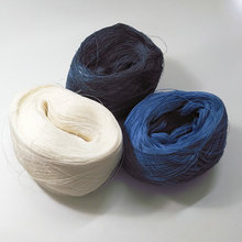 500 грамм чистой льняной пряжи 3 слоя DIY вязание крючком и вязание белый синий натуральный цвет на продажу