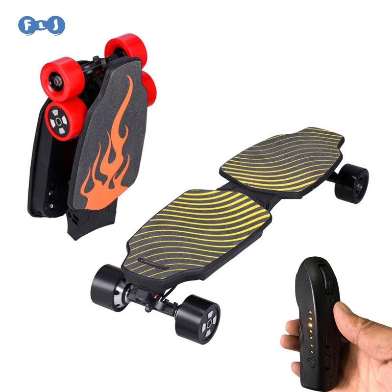 Flj Foldable 4 Wheels Electric Skateboard Hoverboard Scooter Dual Motors Longboard New Skate Board For