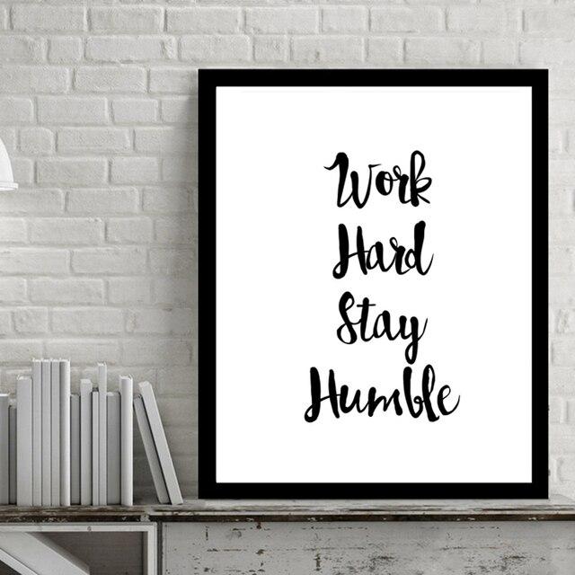 Work Hard Inspiring Quotes Wall Art Digital Poster Canvas Art Oil ...