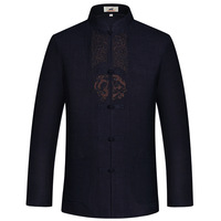 New Arrival Chinese Men S Linen Embroidery Kung Fu Shirt Summer Martial Arts Tops Long Sleeve