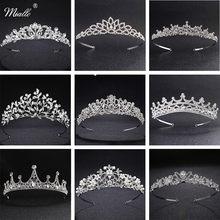 Tiaras y coronas de princesa clásica europea Miallo, tocados de cristal austriaco, joyas para el pelo de la boda para el peinado de la novia