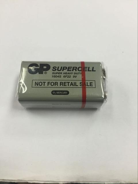 Используется для тестирования инструмент GP Super 6F22 9 В защиту окружающей среды углерода батареи наборный батарея окне Перезаряжаемые