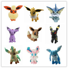 Eevee Evolution Plush Toys Figure Soft Stuffed Animal Pets Doll Umbreon Espeon Jolteon Vaporeon Flareon Glaceon Leafeon Sylveon(China)