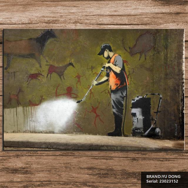Free Shipment Banksy Street Wall Art Picture Paint On Canvas Prints Portrait Clical Oil Painting Drawing