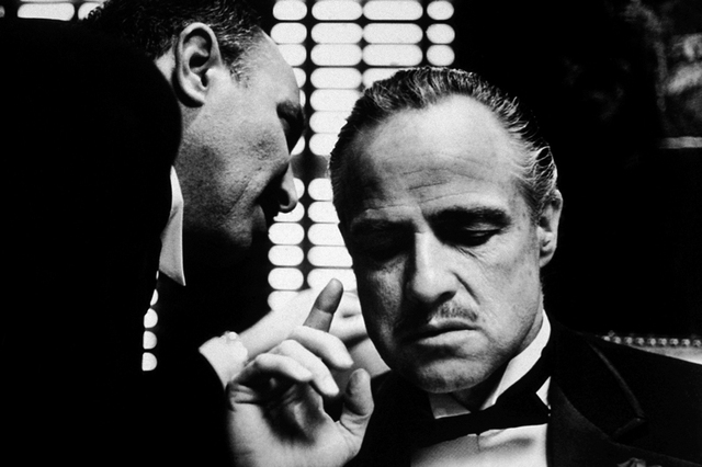 Godfather classic gangster of usa movie poster wall pictures for living room in canvas fabric cloth