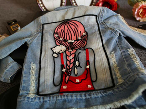 Image 2 - New 2017,Girl Jackets,Girls Denim Outercoat,Children Outerwear,Spring and Autumn Clothes,Kids Jeans Clothes,For 1 12T