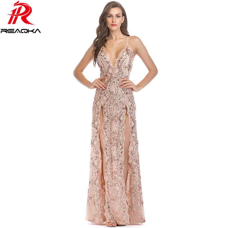 Sexy elegante Pailletten zomer maxi jurk vrouwen wit zwart Goud Rood Strap bodycon vestido Luxe Nachtclub party lange jurken 2018