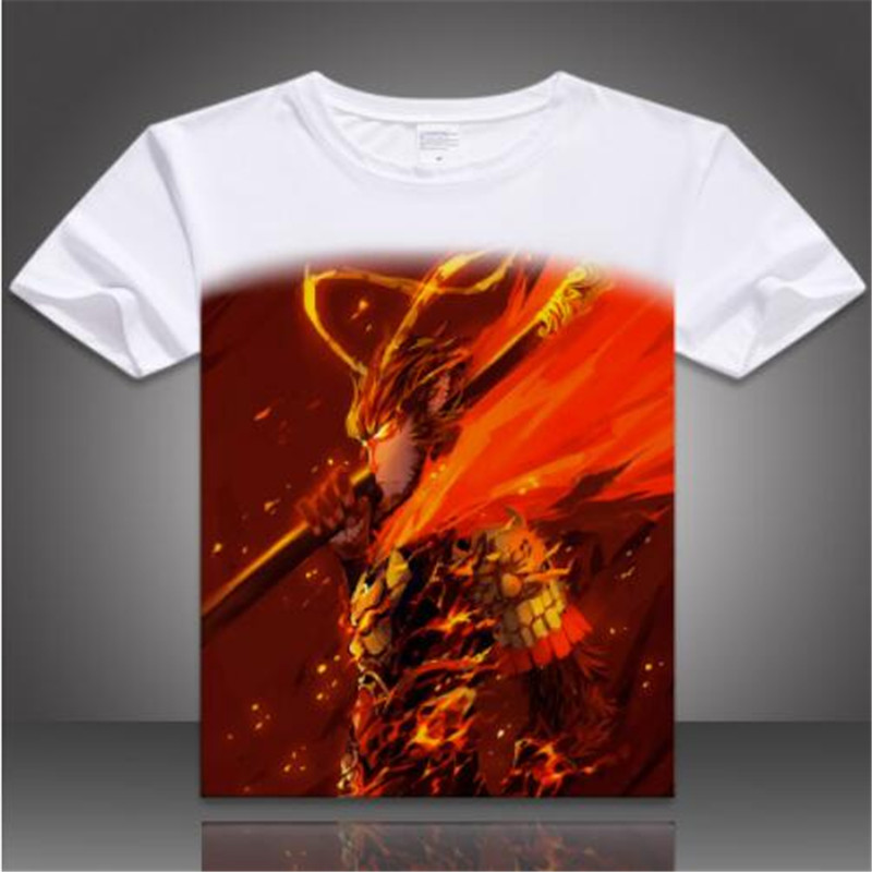 8b0d9a62f8e9 2016 summer creative 3D pattern t shirt Monkey King Sun Wukong short  sleeved T shirt Hero is Back chinese cartoon movie t shirt-in T-Shirts from  Men s ...