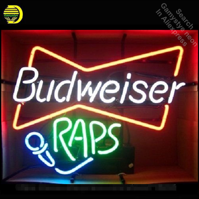 Neon Sign Budweise Raps Music neon Light Sign Handcrafted Real Glass Tubes Customized LOGO retro Fast Dropshipping Neon LampsNeon Sign Budweise Raps Music neon Light Sign Handcrafted Real Glass Tubes Customized LOGO retro Fast Dropshipping Neon Lamps