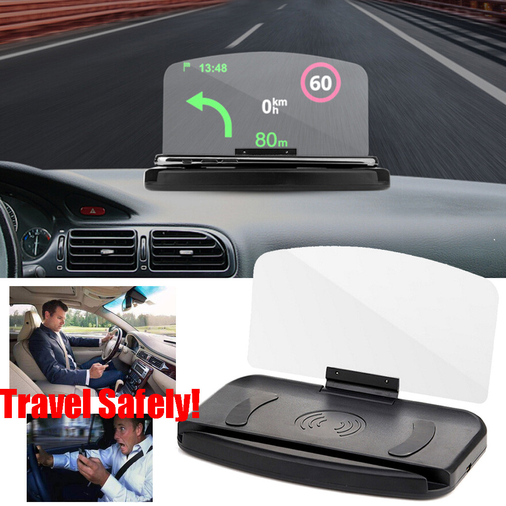 Universal  Smartphone Projector HUD Head Up Display Holder Car GPS Navigator Car Mount Stand Phone Holder Black Non-slip Mat