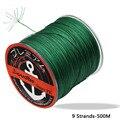 Jioudao плетеная рыболовная нить 9 прядей плетеная леска 500 м/547YD сверхпрочная леска PE 20LB-200LB плетеная леска