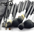 Professional 32pcs High Quality Makeup Brushes Set Soft Animal Hair With PU Leather Belt case For Fashion Beauty MSQ Brand