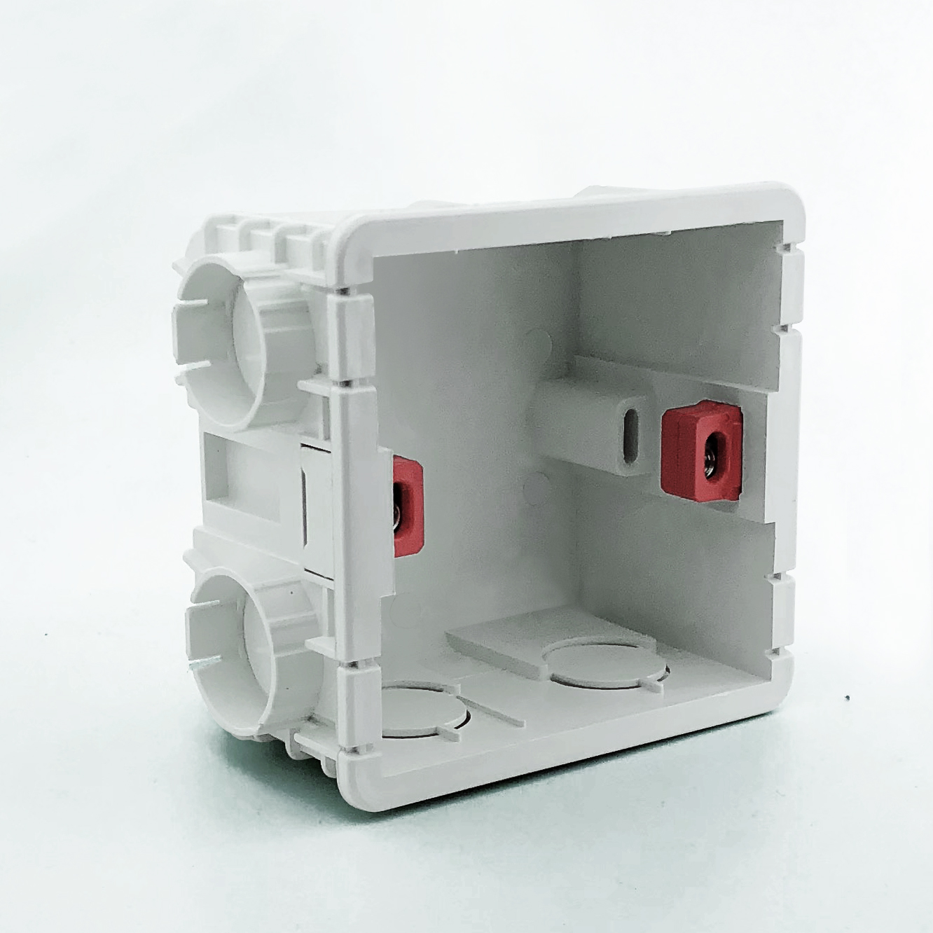 Delviz Wall Switch BOX Wall Socket Cassette,80mm Plastic Materials,For Standard Wall Light Switch EU Standard Internal Mount Box