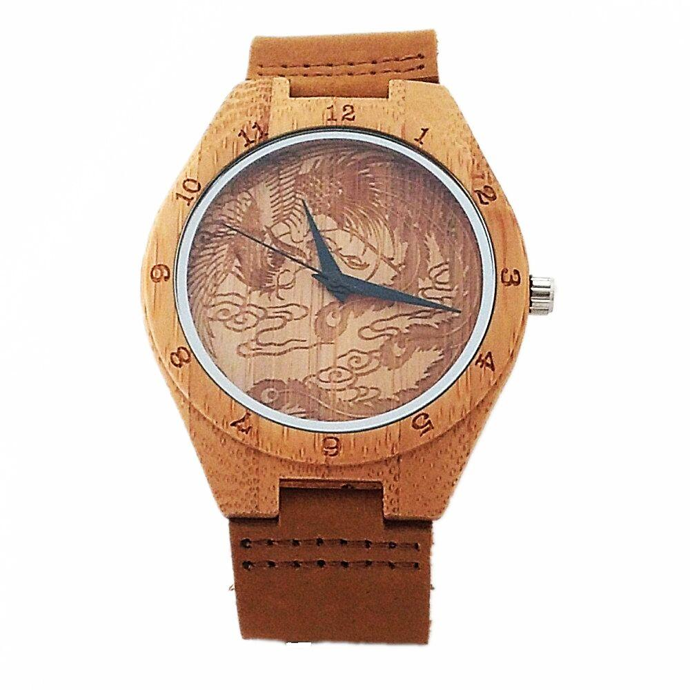 Dames-horloges Bamboo Wood quartz dameshorloges Analoge casual mode - Dameshorloges - Foto 1