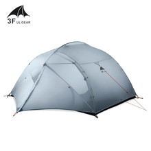 3F UL เกียร์ 3 Person 4 ฤดู 15D Camping เต็นท์กลางแจ้ง Ultralight เดินป่า Backpacking ล่าสัตว์เต็นท์กันน้ำ