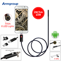 Black 7MM USB Endoscope Camera HD 2In1 Android Camera 2m 5m 10m Pipehole USB Endoskop Inspection Borescope OTG Phone Camera