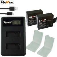 S009 para sjcam 4000 batería + LCD usb cargador Dual para SJCAM 4k SJ4000 wifi SJ5000x M10 SJ7000 SJ6000 SJ8000 H9 Cámara bateria