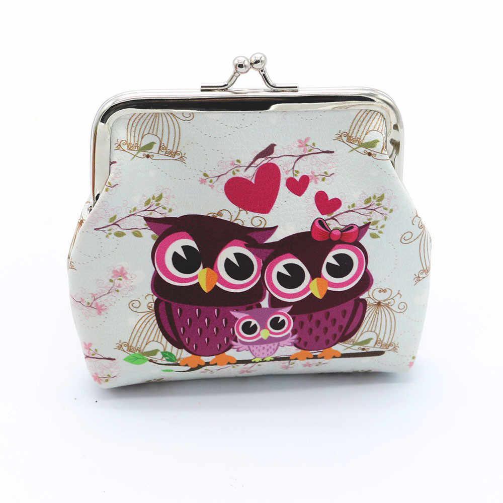 fe766efe4 Hot Sale Women Handbag Lady Retro Vintage Owl Printed Pattern PU Leather  Small Wallet Hasp Clutch