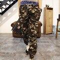 Hombres de la Primavera Nueva Moda Casual Elástico Camuflaje Pantalones Largos