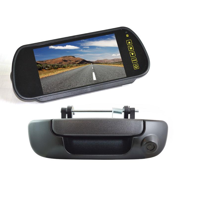 Vardsafe VS206K | Porta Traseira Câmera Reversa De Backup + 7 Polegada Clip-on Monitor de Visão Traseira para Dodge Ram 1500 2500 3500 (2002-2008)