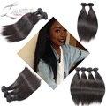 6A Unprocessed Eurasian Virgin Hair Straight 3 Bundles Queen Weave Beauty Ltd Virgin Hair Wet And Wavy 100% Human Hair Weaving
