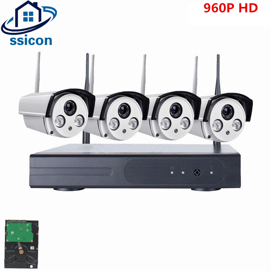SSICON 4CH HD Home Security Wireless NVR IP Camera System 960P CCTV Set Wifi Cameras Video NVR Surveillance CCTV KITSSICON 4CH HD Home Security Wireless NVR IP Camera System 960P CCTV Set Wifi Cameras Video NVR Surveillance CCTV KIT