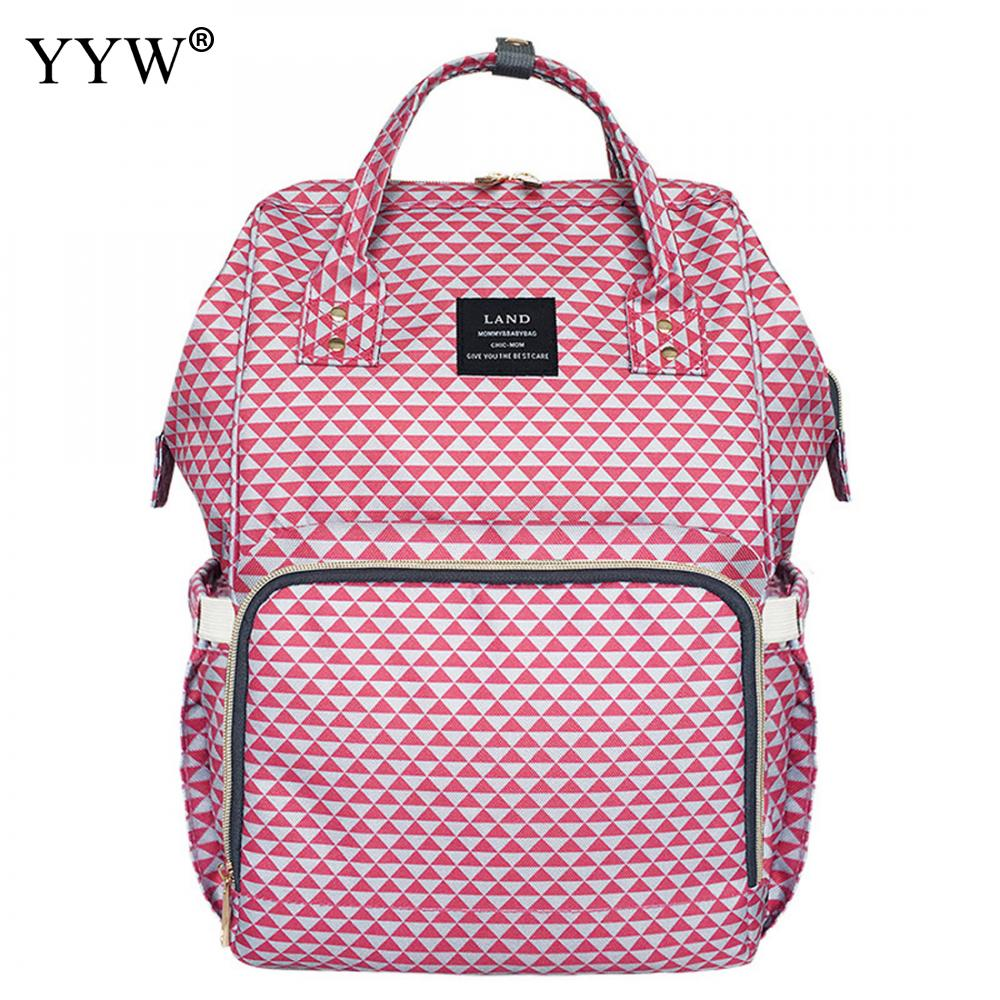 MoM Bag Striped Hot Pink Backpack Female Sky Blue Backpacks for Women Gray Polyester Travel School Bag