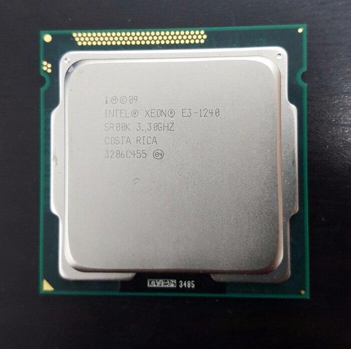 Intel Xeon e3-1240 3.3 ГГц sr00k quad-core 8 м Кэш LGA 1155 Процессор процессора E3 1240