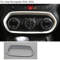 Car ABS Silver Air Condition Volume Temperatur Button Control Outlet Stwich Trim Frame Lamp For Jeep