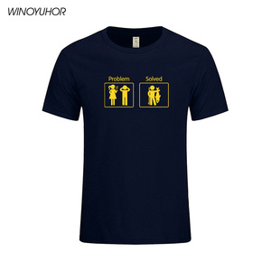 Image 3 - Fishinger פותר בעיות T חולצה קצר שרוול אישית גברים של בגדי קיץ חדש אופנה O צוואר כותנה גברים טי חולצות