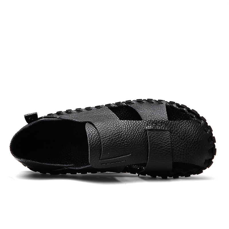 Pooloop Casual Summer Mens Closed Toe Sandals Slip On Fashion