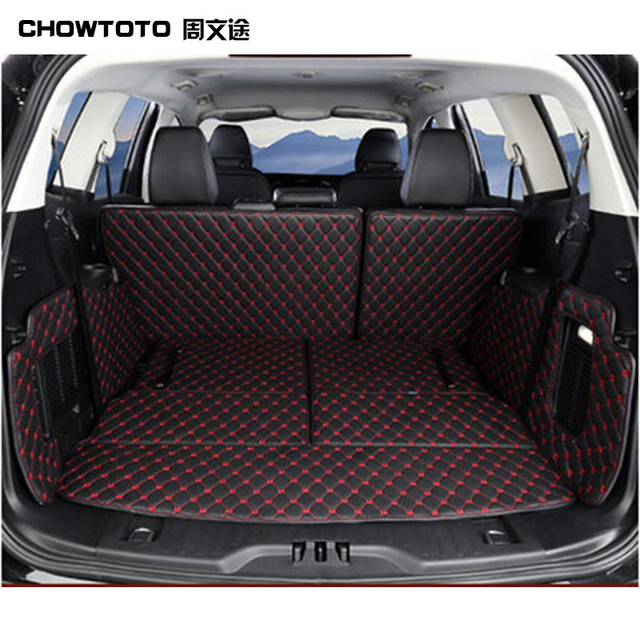 Chowtoto Aa Special Trunk Mats For Ford Edge Seats Durable Waterproof Leather Luggage Carpets For Edge