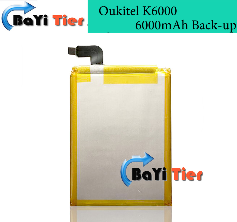 High Quality Oukitel K6000 Battery 100 Newest 6000mAh Back up Battery for Oukitel K6000 Mobile phone