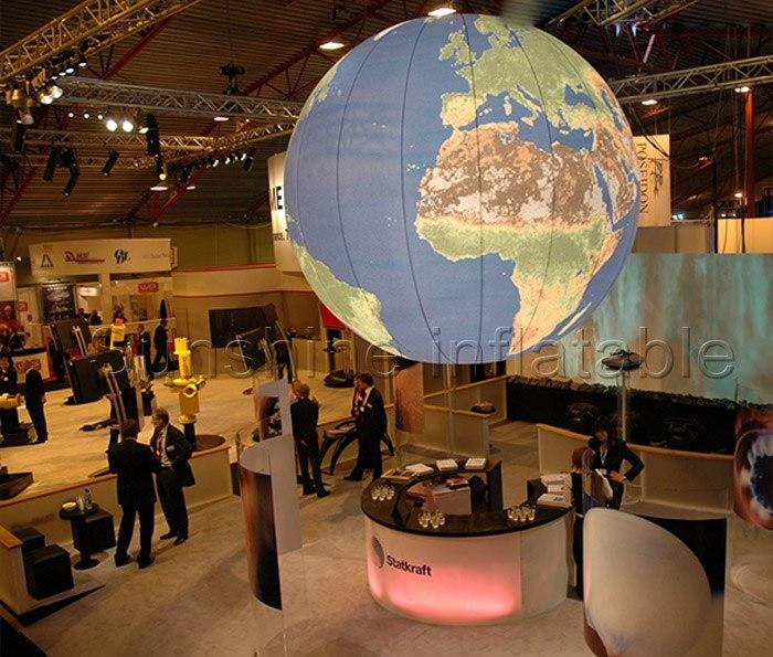 2018 Nouveau géant gonflable terre globe, gonflable terre balle avec led pour la décoration