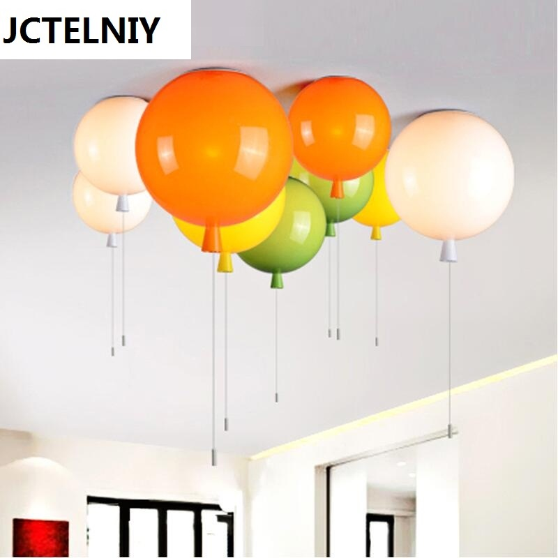 New Color Balloon Ceiling Lights Modern Simplicity Nordic Style Home Restaurant Living Room Light Children Bedroom Lamp [ygfeel] ceiling lights modern simplicity novelty color balloon shape home restaurant living room lighting children bedroom lamp