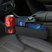 Universal Storage Box Car Organizer Seat Case Pocket Car Seat Side Slit for Wallet Phone Cup Holder Auto Interior Accessories Stowing Tidying     -