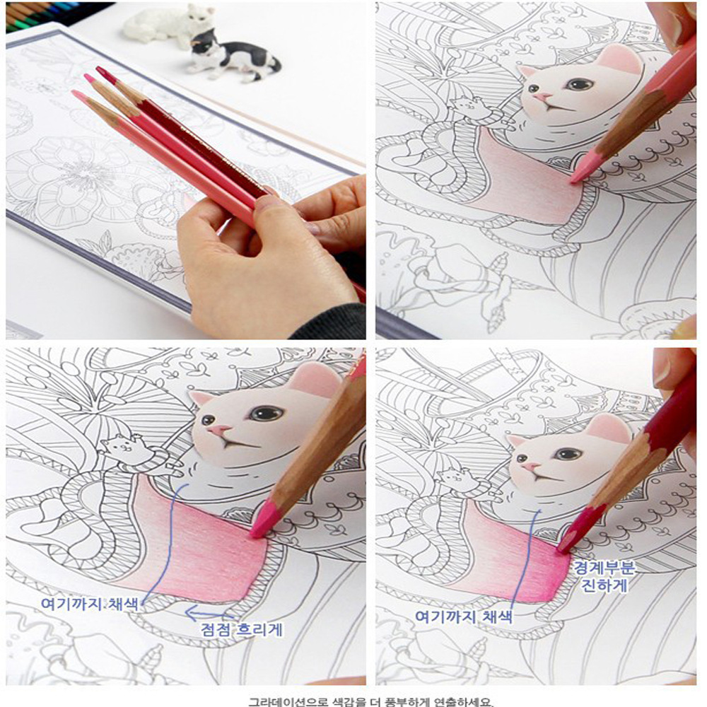 aliexpresscom buy 25x18cm 80pages40sheets cute cartoon cat coloring book for relieving stress kill time graffiti painting drawing book from reliable - Cat Coloring Book