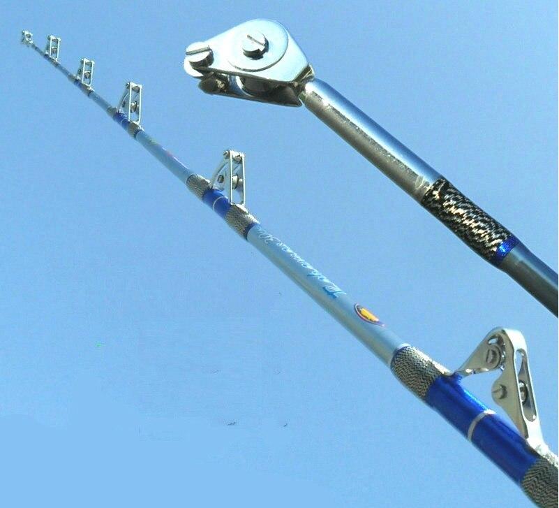 Tige de requin lourd Albacore canne à pêche bateau océan glisser gros poissons outils puissants faits de fibre forte spéciale légère et forte