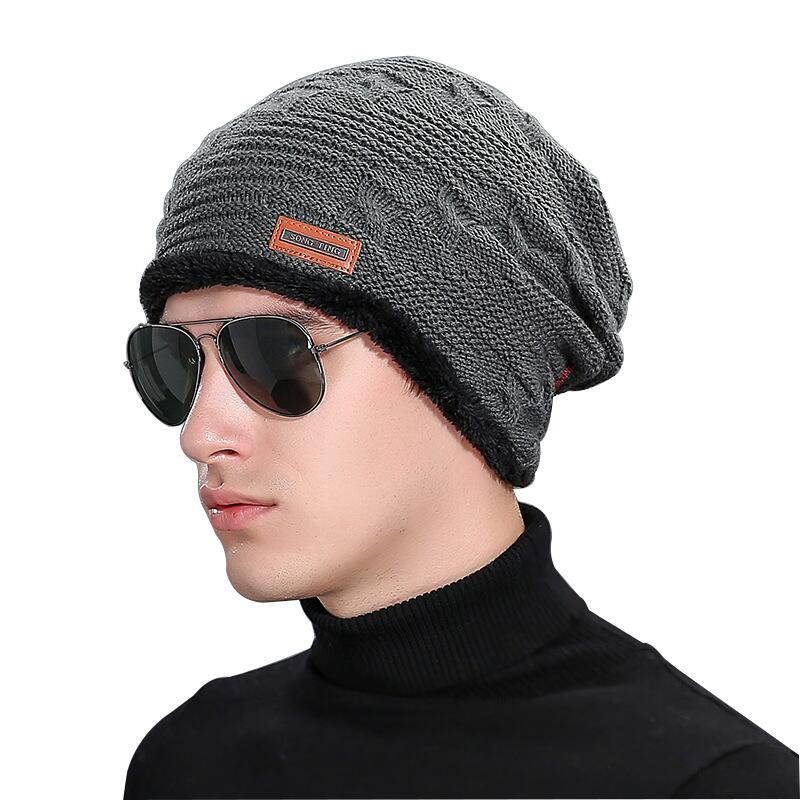2017 new men warm hats beanie hat winter knitting wool hat for unisex caps lady beanie knitted caps women s hats warm z1 Men Warm Hats Beanie Hat Winter Knitting Wool Hat for Unisex Caps Lady Beanie Knitted Caps Women's Hats Outdoor Sport Warm