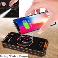 Qi Wireless Charger for iPhone x xs max Samsung S7/8/9 Type c micro USB Ports DC 5V/2.1A 10000mAh external battery power bank