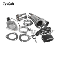 2 or 2.25 or 2.5 or 3 Electric Stainless Exhaust Cutout Cut Out Dump Valve/switch with Remote control