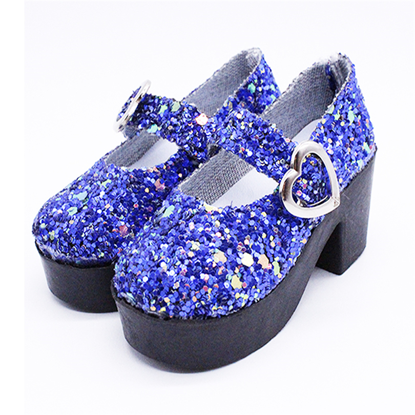 1 Pair Flash Sandals Shoes for 60cm BJD Doll Accessories PU High Heels Shoes for Gifls Doll Toys for Gift in Dolls Accessories from Toys Hobbies
