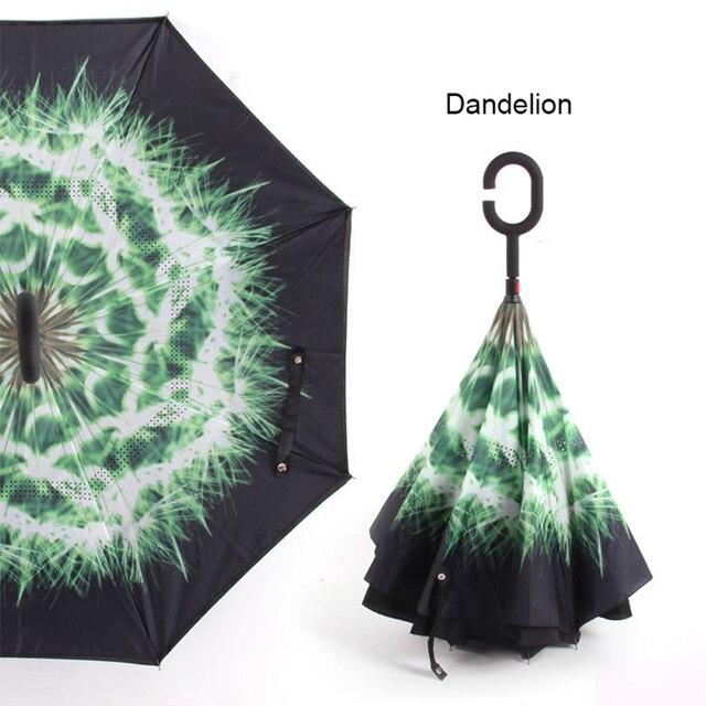 Parapluie Anti-UV inversé   Nuit inversée, pare-vent pliant, ensoleillé et pluvieux, hommes et femmes, parapluies à Double couche, debout à lintérieur