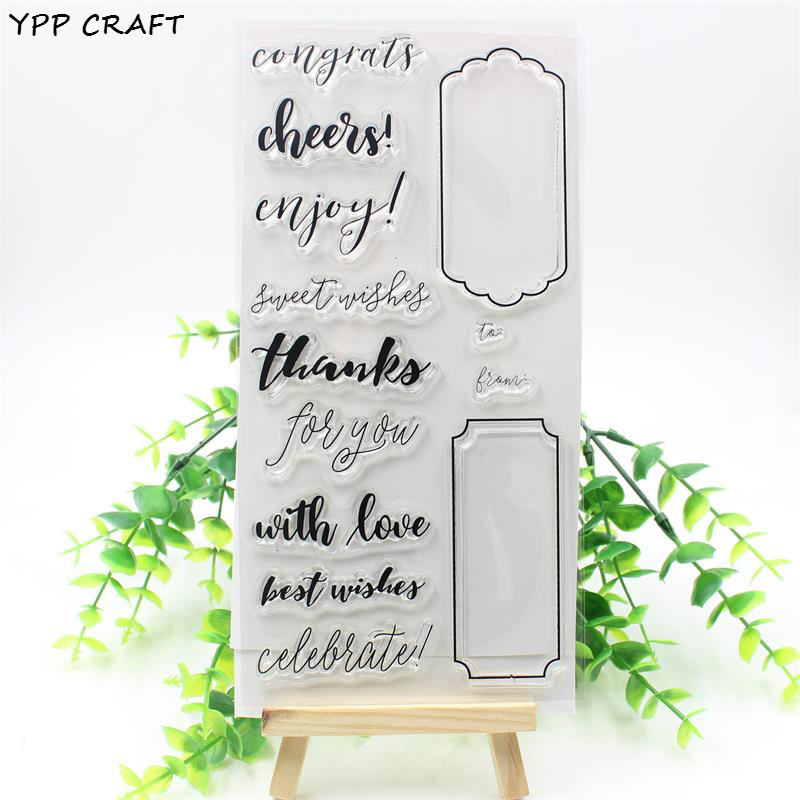 YPP CRAFT With Love Transparent Clear Silicone Stamp/Seal for DIY scrapbooking/photo album Decorative clear stamp about lovely baby design transparent clear silicone stamp seal for diy scrapbooking photo album clear stamp paper craft cl 052