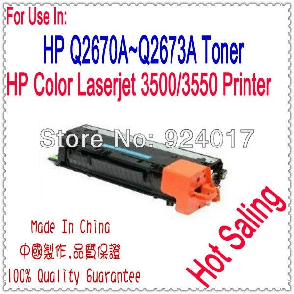 Use For HP Q5990A Q2670A Q2671A Q2672A Q2673A Toner Cartridge,Refill Toner For HP Color Laserjet 3500 3550 Printer,For HP 3550